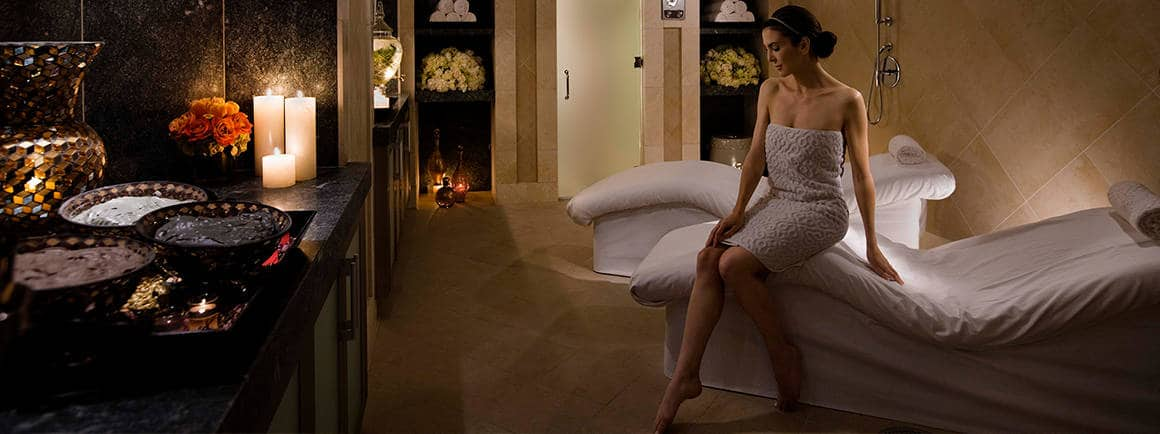 Woman in Spa Montage Beverly Hills treatment room