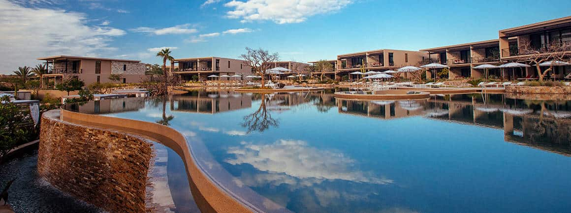 View of pool and skyline at Montage Los Cabos