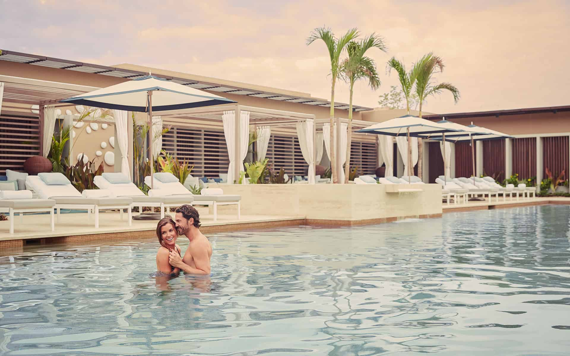 Couple at Serenity Pool