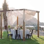 Private dining with canopy