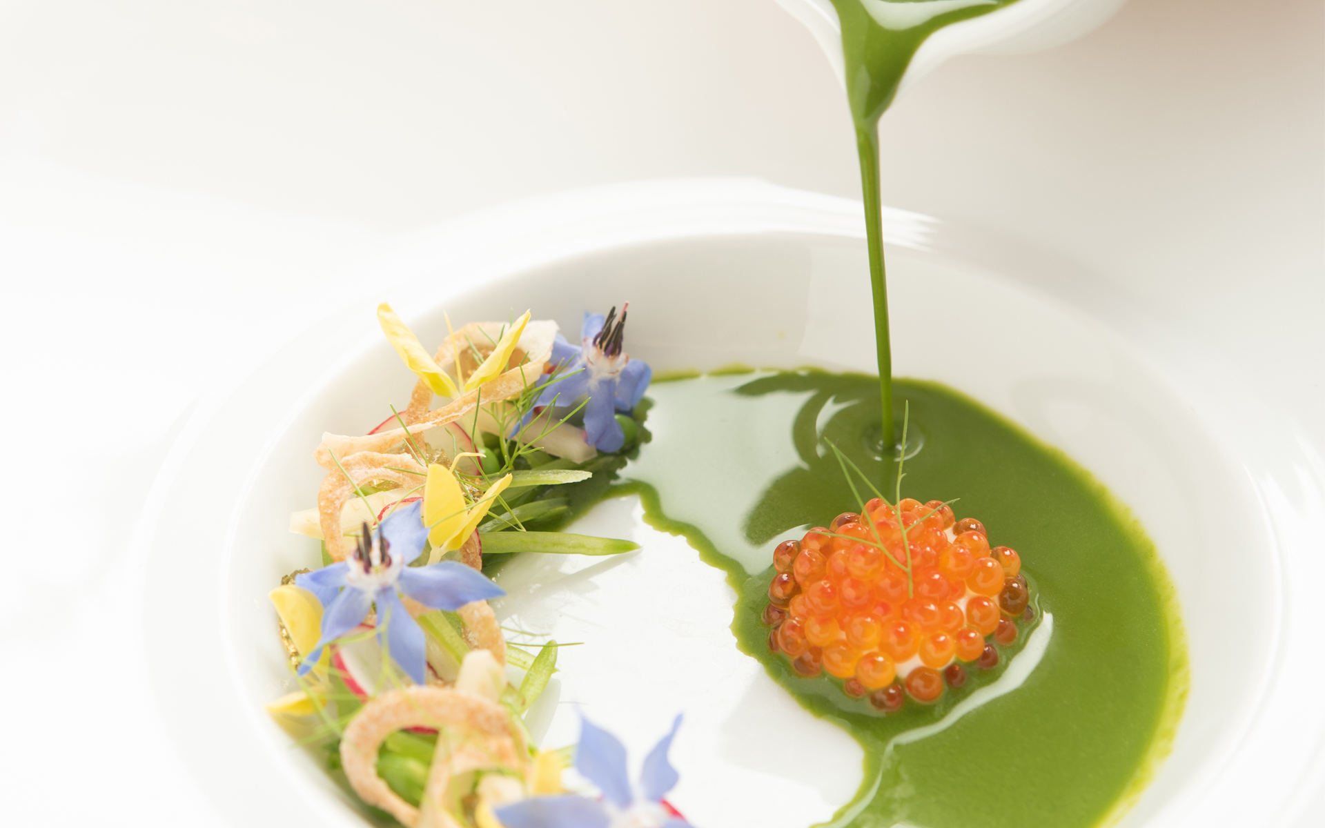 Sugar Snap Pea Veloute