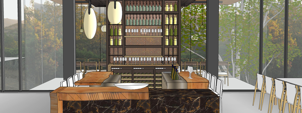 Private dining room rendering
