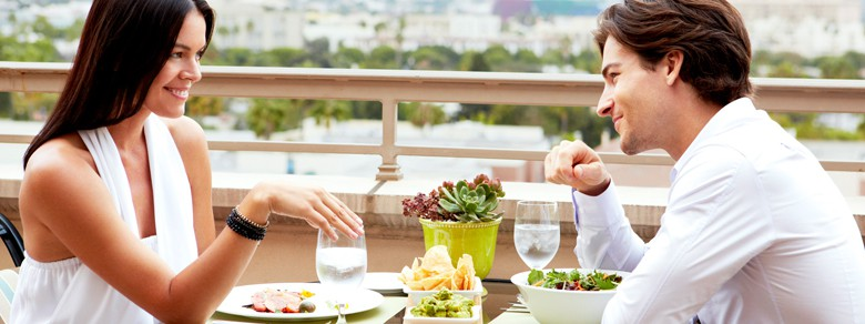 Couple Dining at The Rooftop Grill
