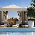 Private rooftop poolside cabana