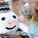 Girl with Snowman at Montage Deer Valley