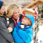 Family prepares for ski day outside Montage Deer Valley