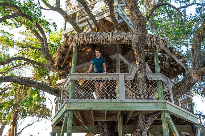 Man in the Moreland Landing Treehouse
