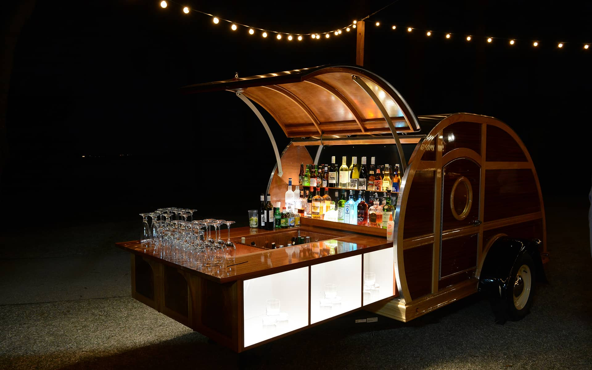 Bourbon Cart Little Brown Wagon