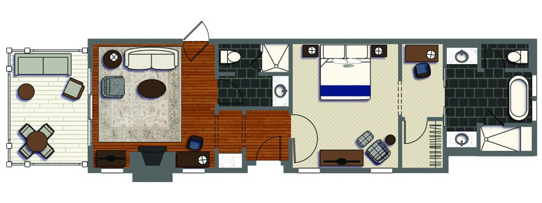 Guest House Suite with Balcony