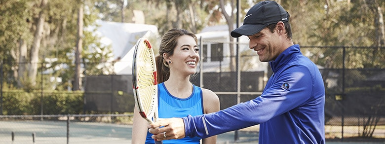 Tennis Lesson at Wilson Lawn and Racquet Club