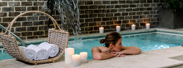 Woman in Spa Hot Tub