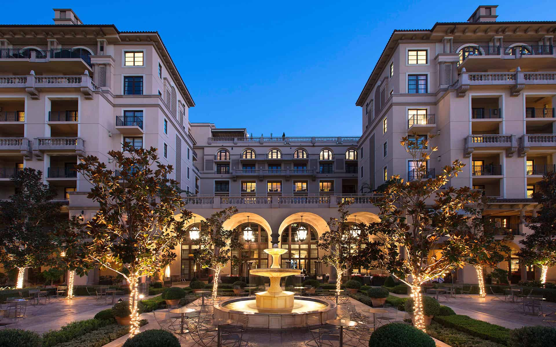 Beverly Canon Gardens & Exterior of Montage Beverly Hills
