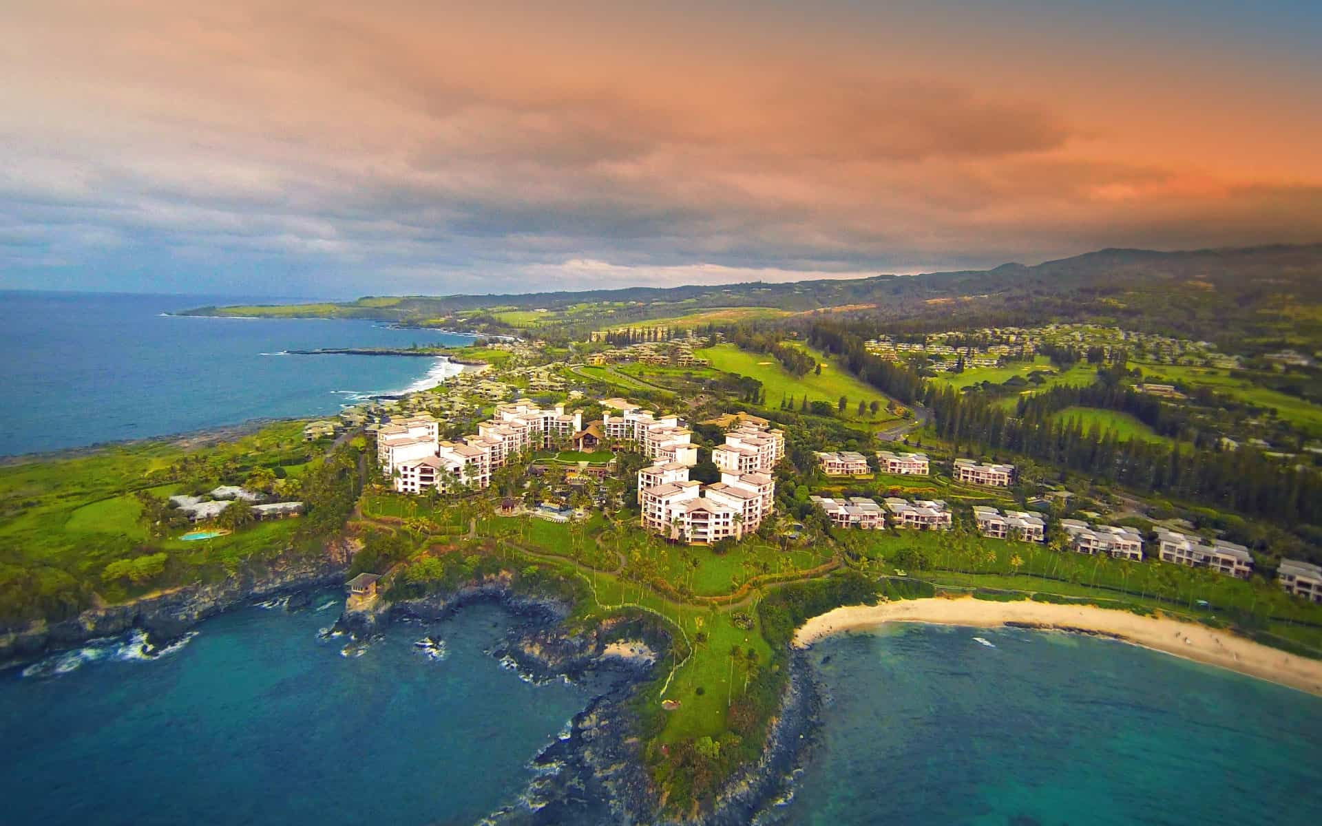 Ariel View of Maui's Montage Kapalua Bay Hotel and Residences