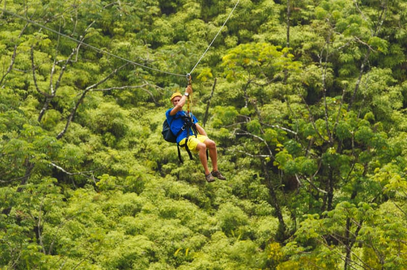 Ziplining in Hawaii