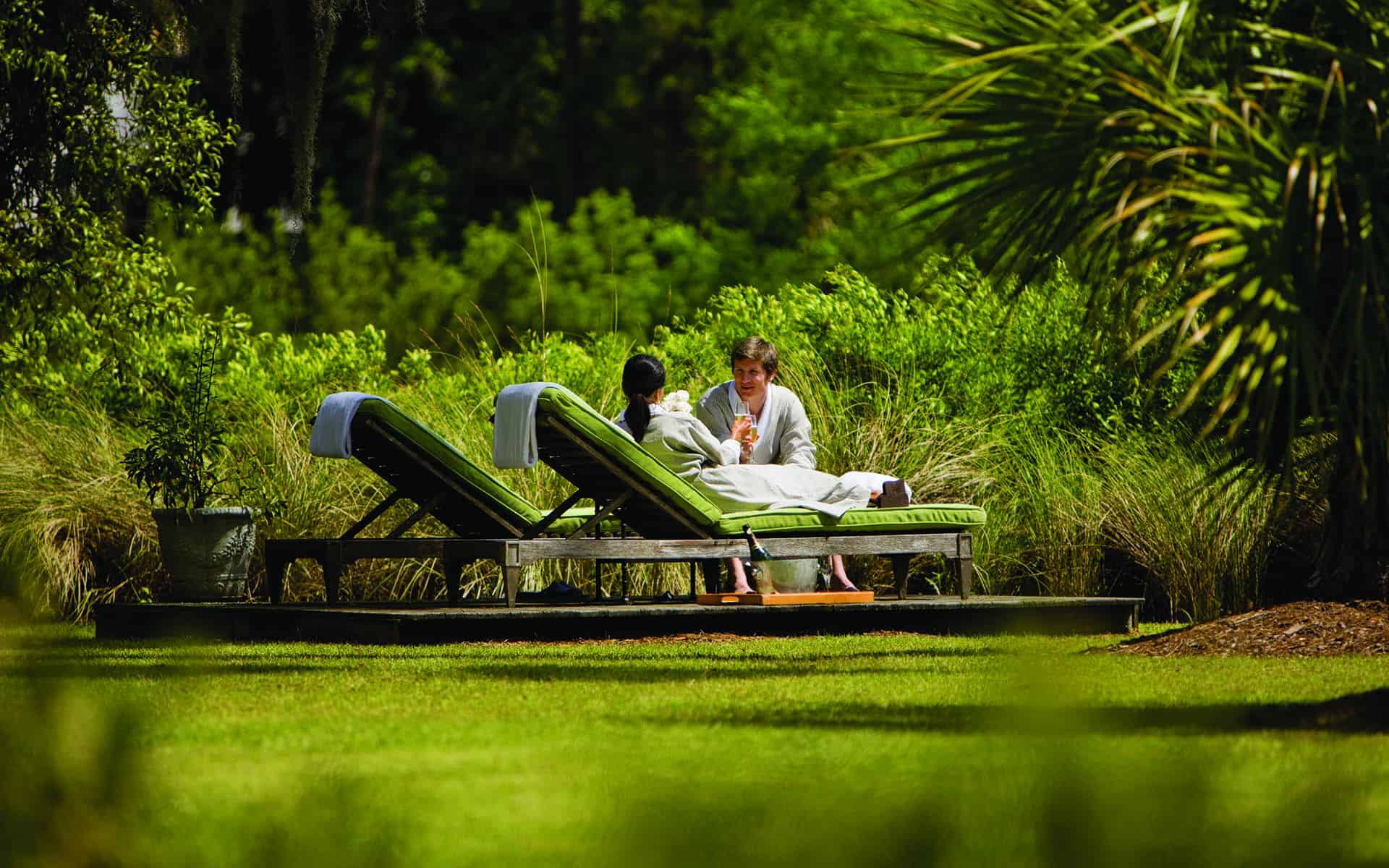 Couple Relaxing at the Luxury Spa Montage