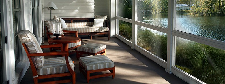 Lagoon View Cottage Luxury Hotel Suite Covered Patio